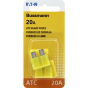 Bussmann Blade Fuses, ATC, 20A