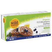 Wild Harvest Waffles, Organic, Blueberry