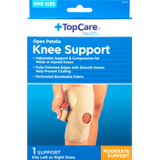 TopCare Knee Support, Moderate, Open Patella, One Size