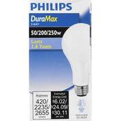 Philips Light Bulb, 3-Way, 50/200/250 Watts