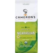 Camerons Coffee, Organic, Whole Bean, Dark Roast, Nicaraguan