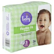 Baby Basics Diapers, Flexible Fit, Size 3 (16-28 lb)