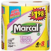 Marcal® Thick & Soft 2-Ply Double Roll Marcal Thick & Soft 2-Ply Double Roll Bathroom Tissue