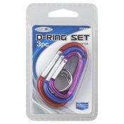 Custom Accessories D-Ring Set, 3 Pc