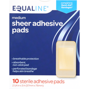 Equaline Sheer Adhesive Pads, Medium
