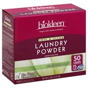 Biokleen Laundry Powder, Free & Clear, Unscented