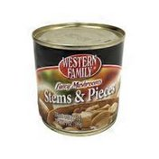 Western Family Fancy Mushrooms Stems & Pieces