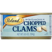 Roland Clams, Chopped, in Clam Juice