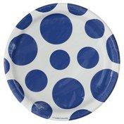 Creative Converting Plates, Dots - True Blue