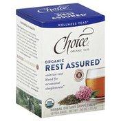 Choice Organic Teas Tea, Rest Assured, Organic, Tea Bags, Box