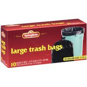 Springfield Trash Large With Ties 30 Gallon Size  Bags