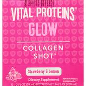 Vital Proteins Collagen Shot, Glow, Strawberry & Lemon