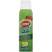 Comet Bath Spray, Foaming, Cleaner & Deodorizer, Fresh Lemon Scent