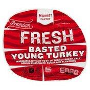 Market Pantry Turkey, Young, Fresh, Basted