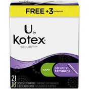 U by Kotex Security Unscented Super Tampons