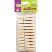 Creativity Street Spring Clothes Pins, Wood Crafts, Large
