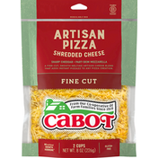 Cabot Shredded Cheese, Artisan Pizza, Fine Cut