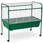"""Prevue Pet Products 23.5"""" x 37"""" Green & White Small Animal Cage With Stand"""