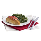 Peapod Meal Kit: Parmesan Crusted Bruschetta Chicken by Hellmann's