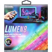 Premier Strip Light + Remote, RGB Multicolor, Lumen 8