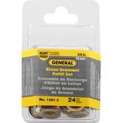 General Grommet Refill Set, Brass, 3/8 Inch