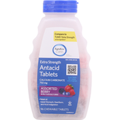 Signature Care Antacid, Extra Strength, Chewable Tablets, Assorted Berry