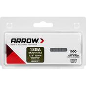 Arrow Steel Nails, Brad, 18GA, 5/8 Inch