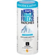 Zim's Max-Freeze Patches L Pain Relief