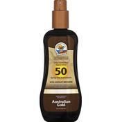 Australian Gold Sunscreen, Spray Gel, Broad Spectrum SPF 50