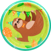 Party Creations Plates, Sloth Party