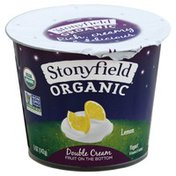 Stonyfield Organic Organic Lemon Double Cream Fruit on the Bottom Yogurt