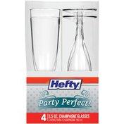 Hefty Plastic Champagne Glasses