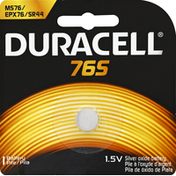Duracell Photo Silver Oxide Battery, 1.5V, Type 76S