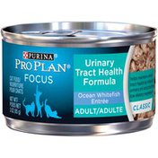 Purina Pro Plan Ocean Whitefish Entree Focus Adult Urinary Tract Health Formula Cat Food