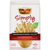 Ore-Ida Simply Cracked Black Pepper & Sea Salt Country Style French Fries
