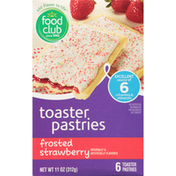 Food Club Frosted Strawberry Toaster Pastries