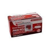 Family Wellness Extra-Strength Acetaminophen Caplets