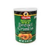 ShopRite Italian Style Bread Crumbs Without Cheese