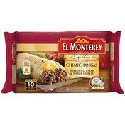 El Monterey Shredded Steak & Three-Cheese Chimichangas