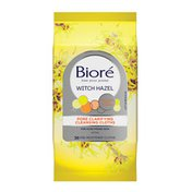 Bioré Witch Hazel Pore Clarifying Cleansing Cloths, Dirt and Oil Removal