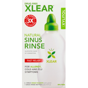 Xlear Sinus Rinse, Natural, Fast Relief, With Xylitol