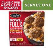 Stouffer's Bowl-Fulls Classic Pub Meatballs & Mashed Potatoes Bowl Frozen Meal