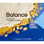 Balance Bar Nutrition Bar, Yogurt Honey Peanut