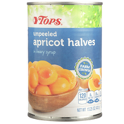 Tops Unpeeled Apricot Halves In Heavy Syrup