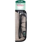 Clear Readers Eyeglasses, +1.75