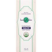 Babylabs Baby Oil, Certified Organic, Sweet Orange