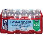 Crystal Geyser Alpine Spring Water Alpine Spring Water, Natural. 24 Pack