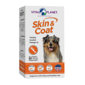 Vital Planet Skin & Coat Chewable Tablet, with Flax and Pumpkin