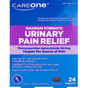 CareOne Urinary Pain Relief, Phenazopyridine Hydrochloride 99.5 mg, Maximum Strength, Tablets