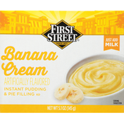 First Street Pudding & Pie Filling, Instant, Banana Cream